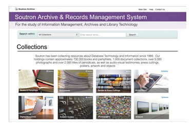 Archive Records Management Screenshot of an example Search Portal