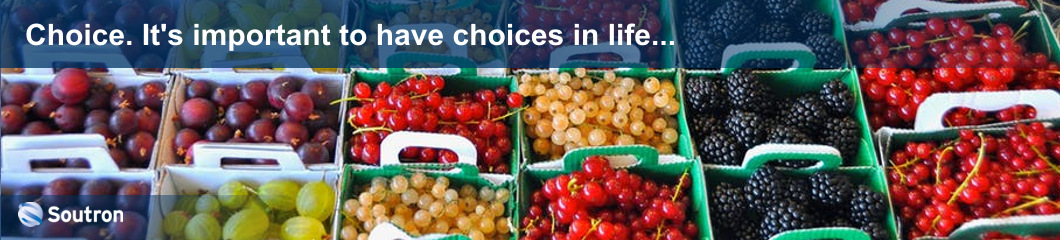 Choice. It's important to have choices in life and information management