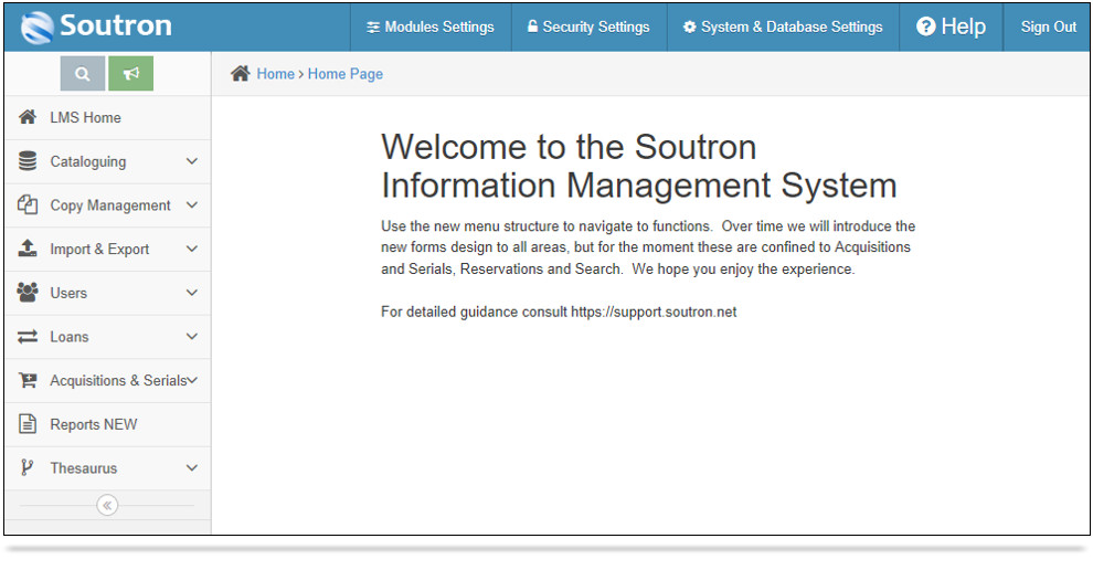 New Information Management System by Soutron