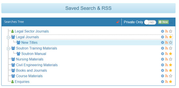 Soutron Search Portal Saved Searches Update on version 4.1.4