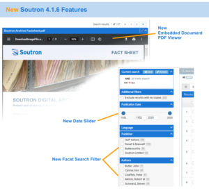 Soutron 4.1.6 New Features